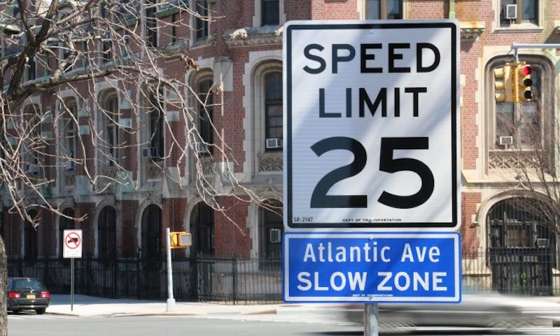 25 MPH speed limit zero vision